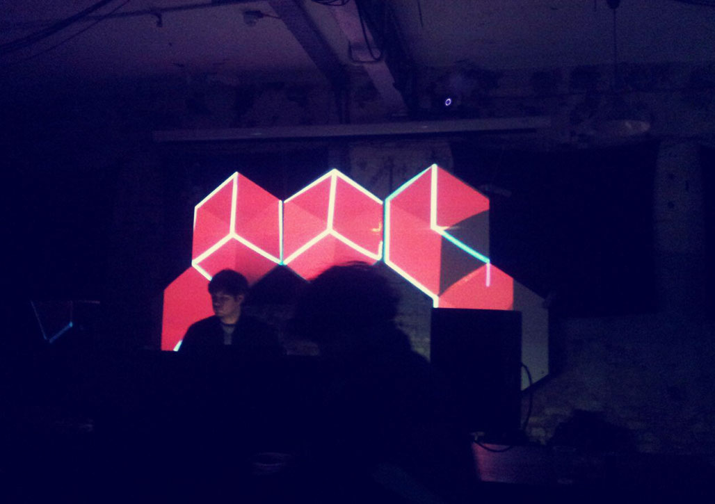 Hexagons video mapping